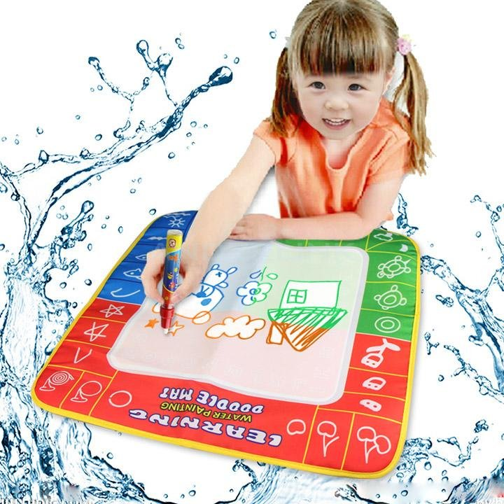 Water Drawing Toys Mat & 1 Magic Pen/Water Drawing Board Baby Play T-19381