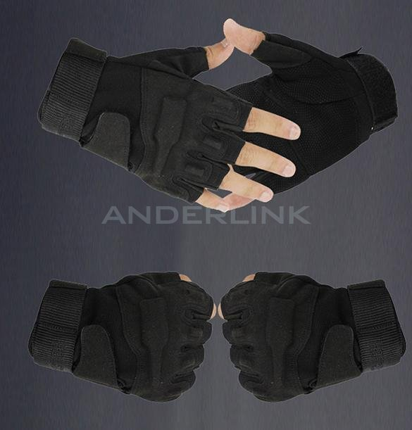 Outdoor Sports Fingerless Military Tactical Hunting Riding Game Gloves