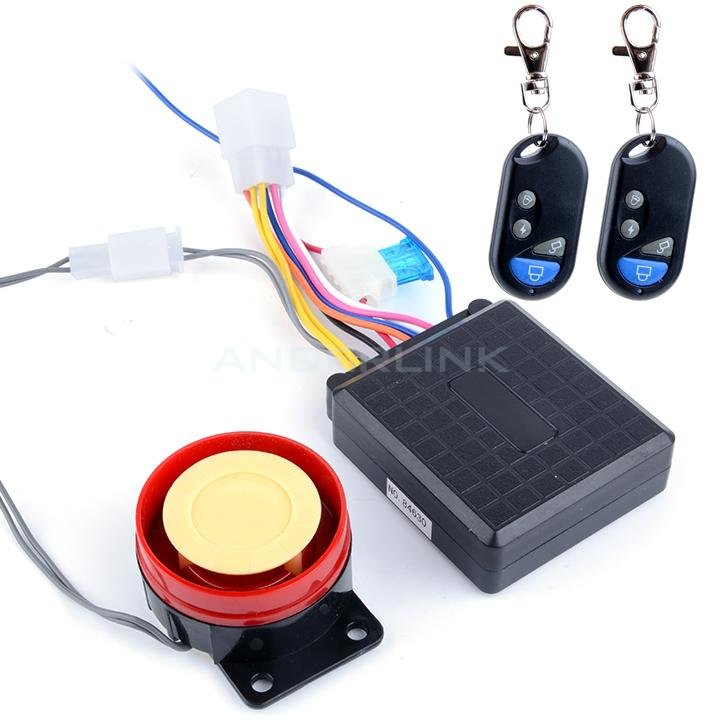 New Motorcycle Bike Anti-theft Security Alarm System Remote Control Engine Start 12V T-SV002173