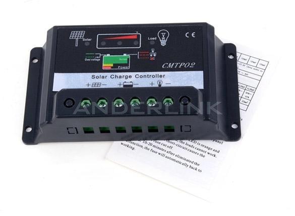 30A PWM Solar Panel Battery Regulator Charge Controller 12V/24V
