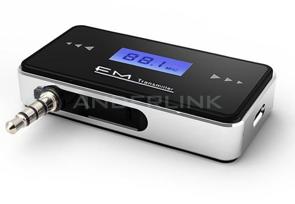 LCD 3.5mm In-car FM Transmitter for Apple iPhone 5 5s 5c