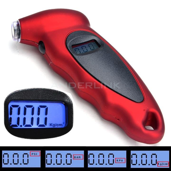 Diagnostic Tool Universal Car Digital Tire Pressure Gauge LCD Display With PSI And BAR Settings For Bicycle Bike Car Tire